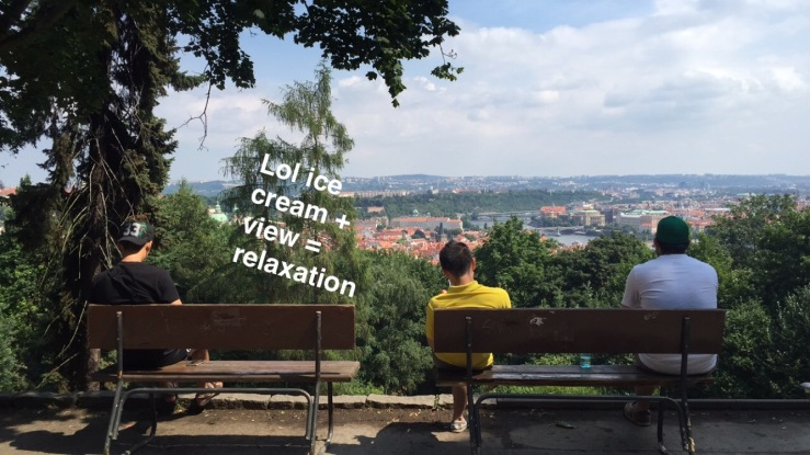 Enjoying the view from Petrin