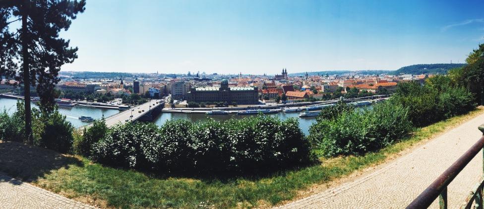 View of Prague from Letna Beer Garden
