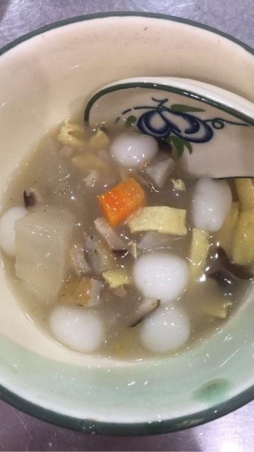 Savory soup balls