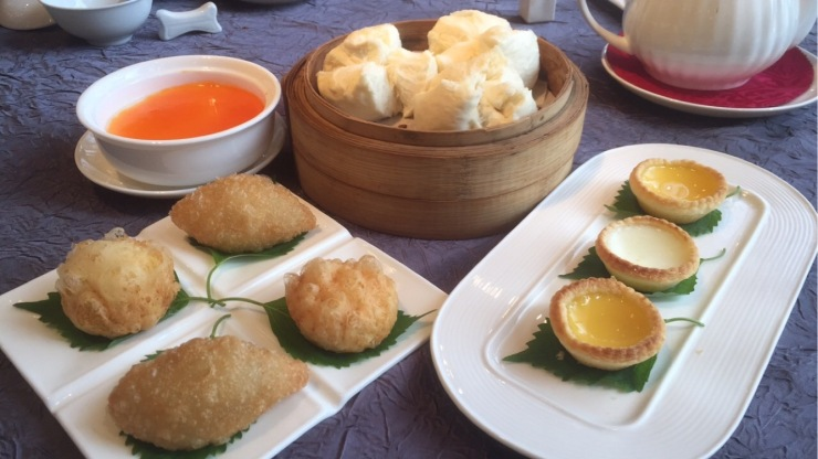 Dim sum at the Garden Hotel in Guangzhou