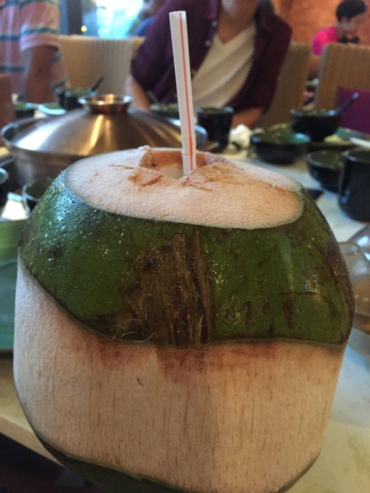Coconut juice at Season in Shenzhen