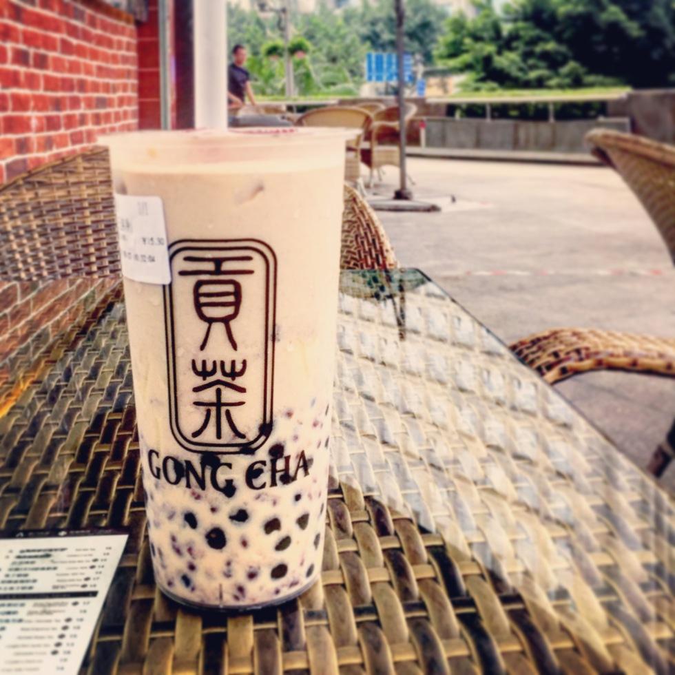 Gong Cha red bean bubble milk tea