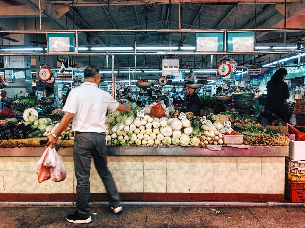 Wet market in Guangzhou
