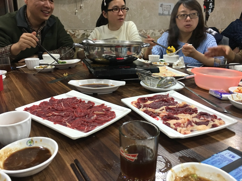 Chaoshan hot pot with coworkers