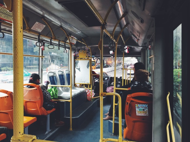 Taking the No. 189 bus to Kecun Guangzhou
