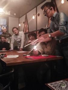 Magic trick at Bondi on Xingsheng Lu in Guangzhou