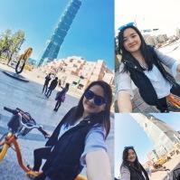 Biking through Taipei