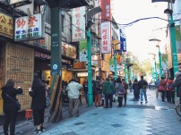 Early morning on Chinese New Year 2016 in Ximending in Taipei
