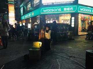 Street performance at Ximending Taipei