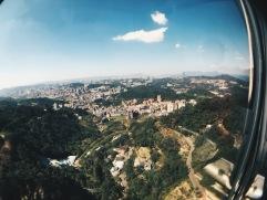 View of Taipei from Maokong gondola