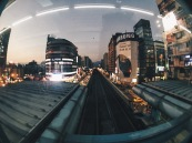 Taipei MRT sunset