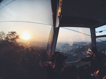 Maokong gondola sunset