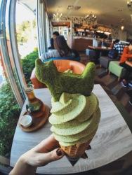 Baozhong ice cream at Maokong Café