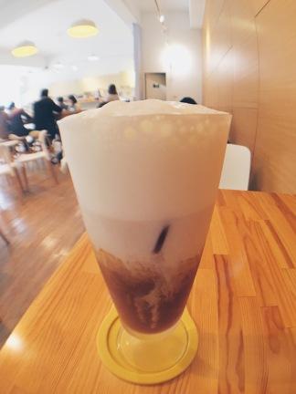 Banana milk tea at Triple E Coffee, Beitou, Taipei