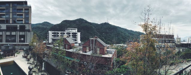 Beitou panorama from Taiwan Folk Arts Museum