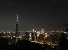 Taipei night skyline from Elephant Mountain