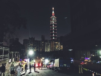 Elephant Mountain at night, Taipei