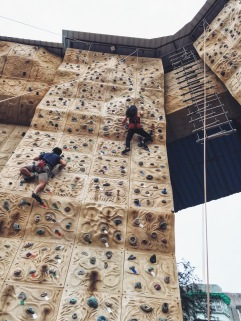 Saturday rock climbing in Wushan, Guangzhou