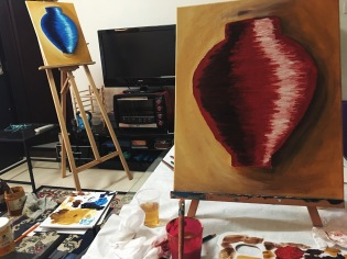 Sunday painting class with Elizabeth in Guangzhou