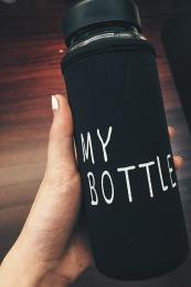 Cute blk water bottle