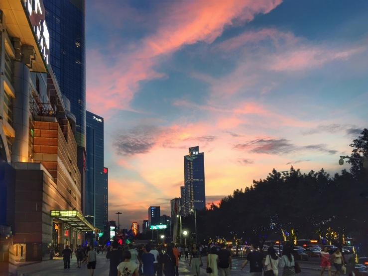 Tianhe sunset in Guangzhou