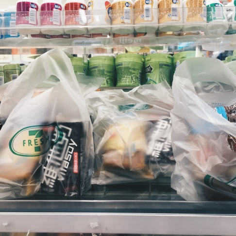 Packed snack bags in 7 Eleven