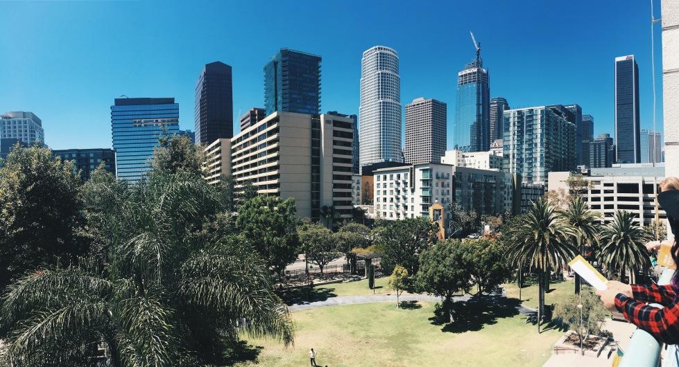 View from FIDM, California skyline