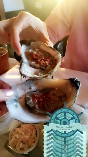 Raw oysters at Rusty Scupper in Baltimore, MD