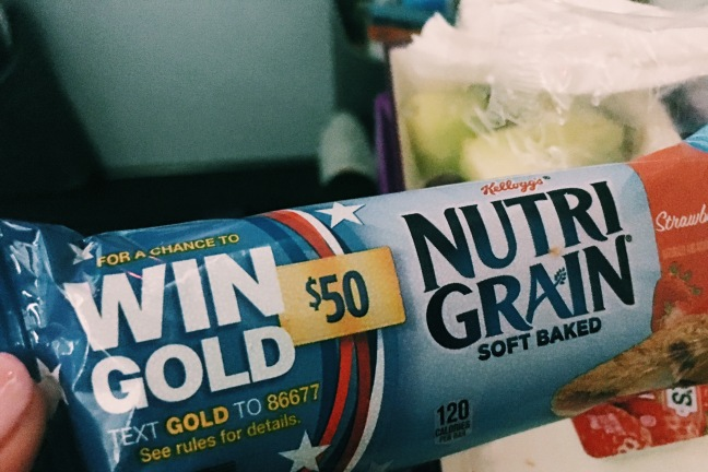 Nutrigrain bar on China Southern Airlines from JFK to Guangzhou