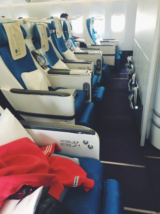 Row to myself on China Southern Airlines' premium section