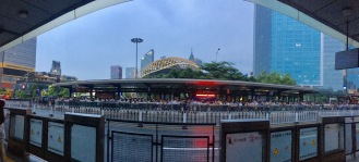 BRT line before Typhoon Nida hit