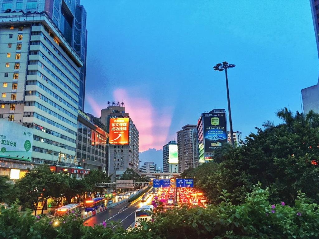 Sunset before Tyhoon Nida hits