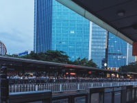 BRT bus line before Typhoon Nida hit