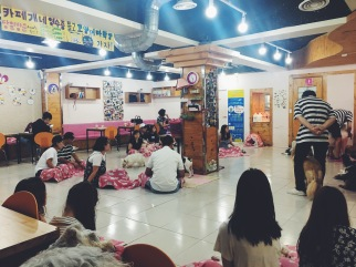 Myeongdong dog café, Seoul, Korea
