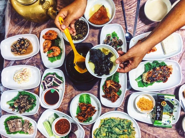 Makgeolli dinner in Jeonju