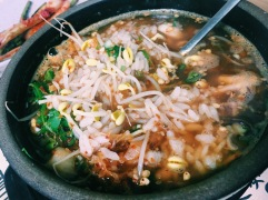 Beansprout soup at Jeonju Hanok Village