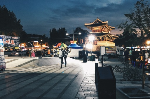 Jeonju at night.