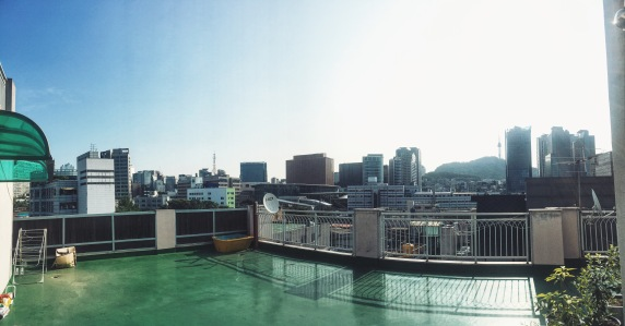 View from Airbnb near Seoul Station