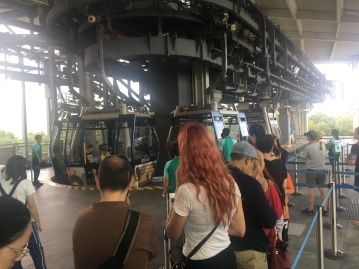 Line to Ngong Ping 360 cable car