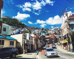 Hike up to Gamcheon Culture Village in Busan