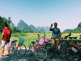 Biking with Travelers Society in Yangshuo