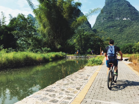 Biking in Yangshuo with Travelers Society