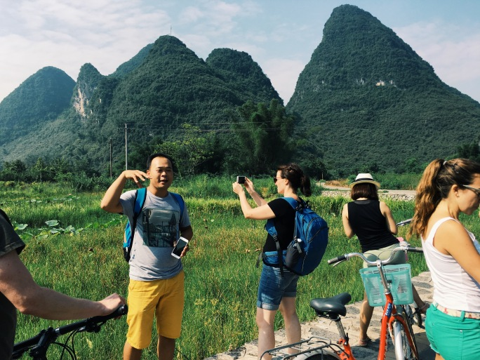 Biking in Yangshuo with Travelers Society