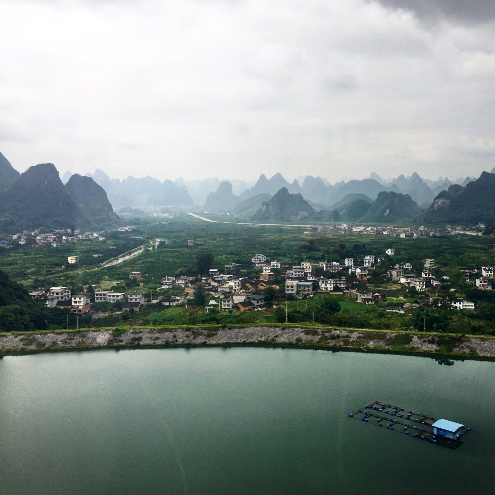 Scenery from taking the high-speed rail from Guangzhou to Guilin