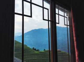 View from my room at Longji One Art Hotel