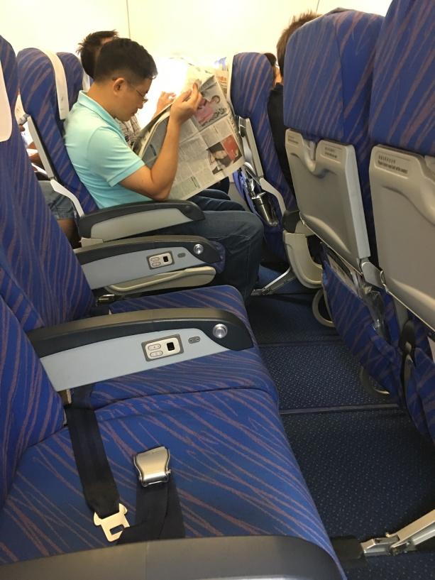 Empty seats on airplane