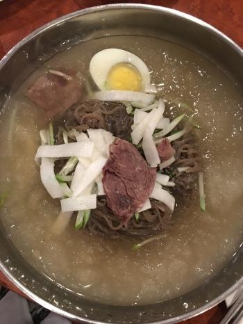 Korean cold soup noodles