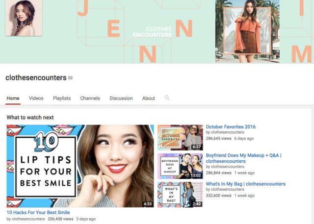 clothesencounters YouTube channel