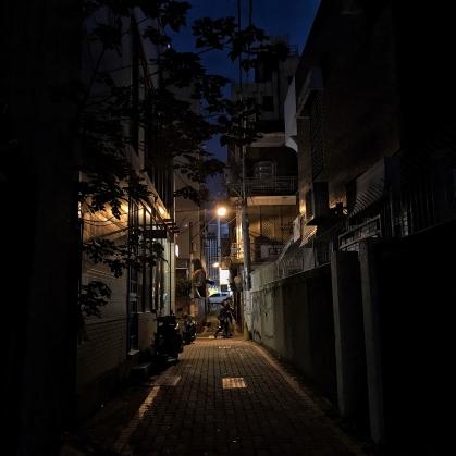 Tainan alleyway at night