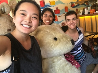 Huge stuffed bears are everywhere in Asia.